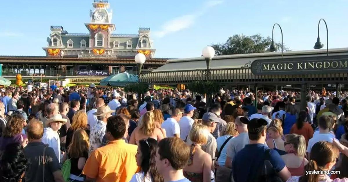 Crowd Entrance to Magic Kingdom