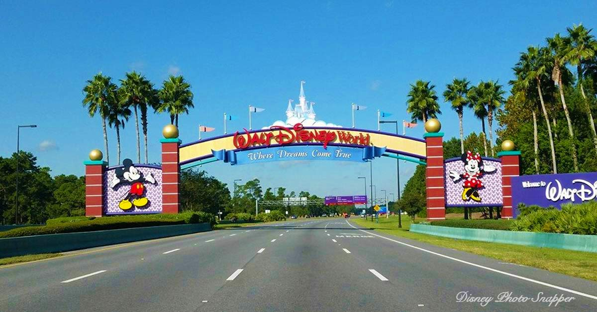 Walt Disney World Park Sign Main Entrance